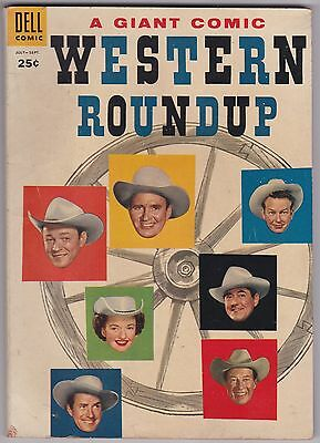 Western Roundup #11 VG+ 4.5 Dell Giant Roy Rogers Gene Autry 1955!