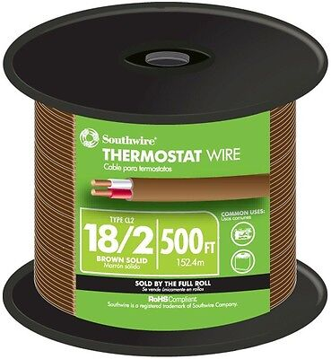 Southwire 500 ft. 18/2 Solid Thermostat Bell Wire Copper Cable Indoor Outdoor