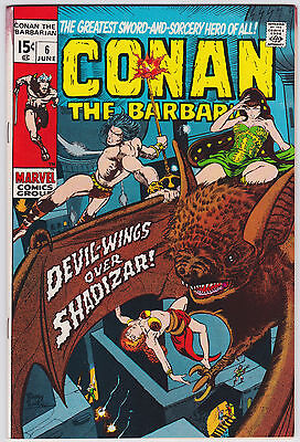 Conan The Barbarian #6 F+ 6.5 Devil Wings Over Shadizar Barry Smith Art!