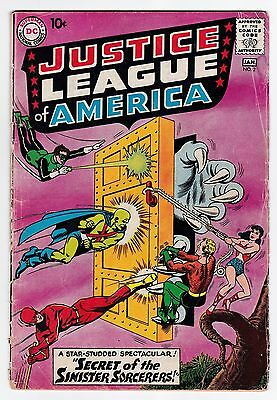 Justice League Of America #2 G-G+ 2.25 Flash Green Lantern Wonder Woman!
