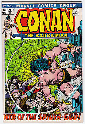 Conan The Barbarian #13 F-VF 7.0 Web Of The Spider-God Barry Smith Art!