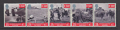 SG1824-1828 1994 D-Day SG1824a Strip of 5 ~ UNMOUNTED MINT GB