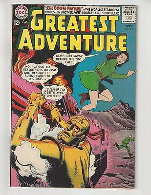 My Greatest Adventure #82/Silver Age DC Comic Book/3rd Doom Patrol/FN+