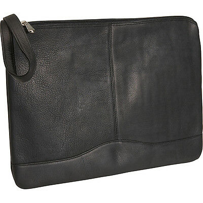David King & Co. Leather Envelope - Black Business Accessorie NEW