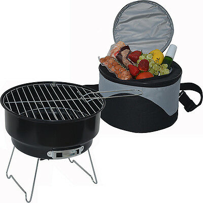 Picnic at Ascot BBQ Grill and Cooler Combo Set - Black Outdoor Accessorie NEW