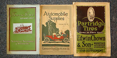 Lot Of 4 Vintage Car Magazines/catalogs From 1920-1960