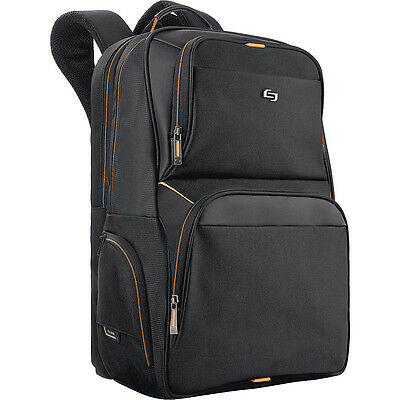 """SOLO Pro 17.3"""" Laptop Backpack - Black Business & Laptop Backpack NEW"""