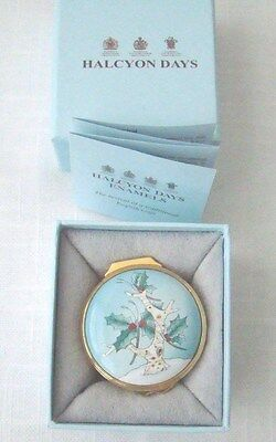 Halcyon Days Enamels * 2011 Christmas Box * Neiman Marcus  * Exc Condition