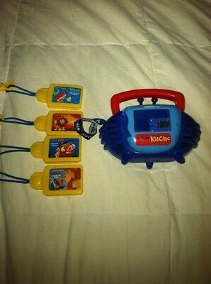 Disney Kid Clips Music Player & 4 Songs
