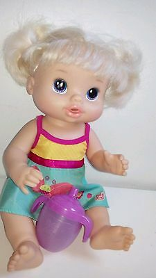 Beautiful Baby Alive Doll 34cm Like New Ideal Gift Drinks and Wets