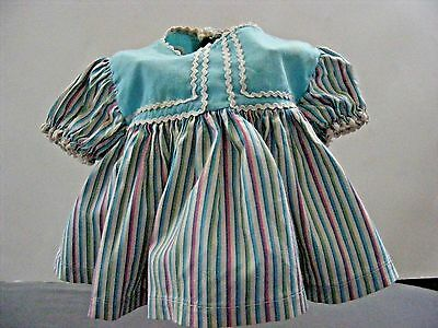 "Nice !vintage Stripped Dress 8"" For Betsy Wetsey, Tiny Tears"