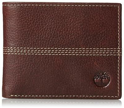 New Timberland Men's Premium Genuine Leather Id Bifold Wallet Brown D08389/01
