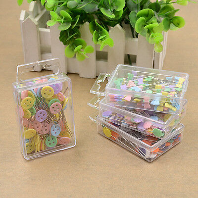 100 Pcs Bow Tie Button Flower Shape Pins Sewing Patchwork Quilting  DIY