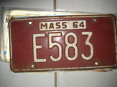 Antique Mass 1964 License Plate