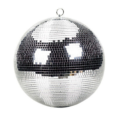 Genuine Lightweight Silver Mirror Disco Dance Party DJ Prom Glitter Ball (30cm)