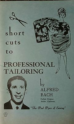 Short Cuts To Professional Tailoring Bach Vintage Retro Fashion Design Sewing
