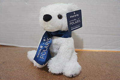 ‡RARE NEW!‡  United Airlines Polaris Limited Edition Teddy Bear INAUGURAL FLIGHT