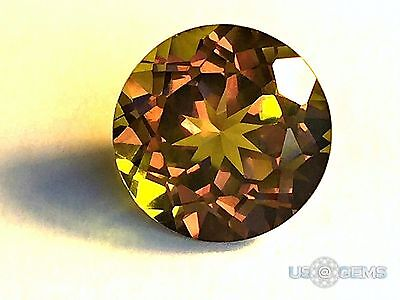 Diaspore. Round 10 mm. 6,5 Ct. Created Gemstone Nanosital. US@GEMS