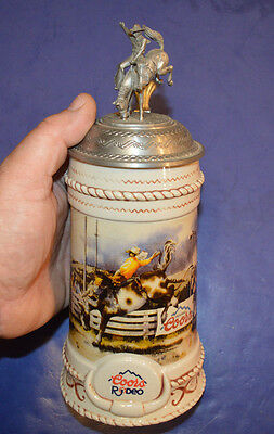 The Coors Rodeo Series RIDE ON THE WILD SIDE bucking bronco Beer Stein