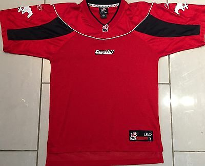 NEW Reebok Authentic Calgary Stampeders Small CFL Jersey