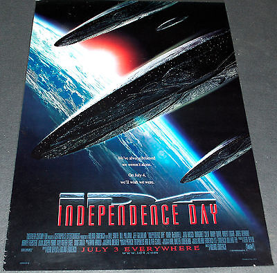 ALIEN INVASION CLASSIC! 1996 ORIG. 27x40 STYLE B MOVIE POSTER! INDEPENDENCE DAY
