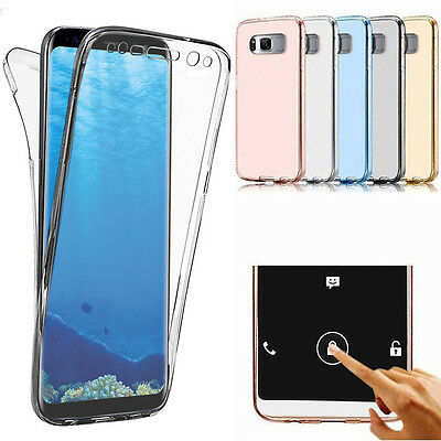 Slim 360° Shockproof TPU Clear Case Cover For Samsung Galaxy S7 / S7 edge S8