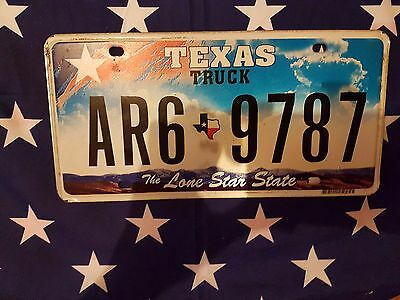 Plaque d immatriculation Texas AR6-9787 USA US License Plate