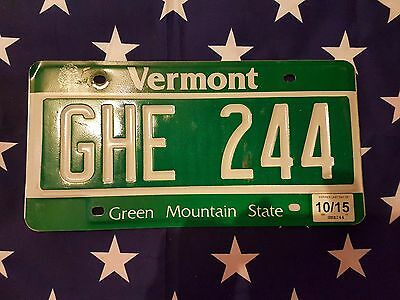 Plaque d immatriculation Vermont GHE-244 USA US License Plate