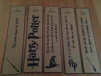 Harry Potter Bookmarks. Great Gift. Set of 3.