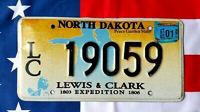 North Dakota Lewis and Clark License Plate 19059 USA US Plaque d immatriculation