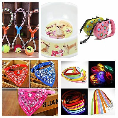 100 Items Wholesale Job Lot Pet Dog Products Toys Collars Leads Re-Sale Items