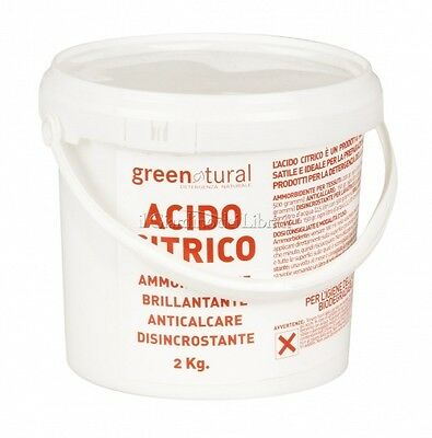ACIDO CITRICO ANIDRO E330,GREENATURAL  SECCHIELLO 2 kg
