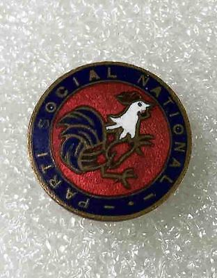 vintage pin FRANCE SOCIAL NATIONAL PARTY buttonhole enamel old very rare