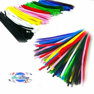 Pipe Cleaners 30cm Chenille Stems for Craft - Single Colour & Assorted Packs