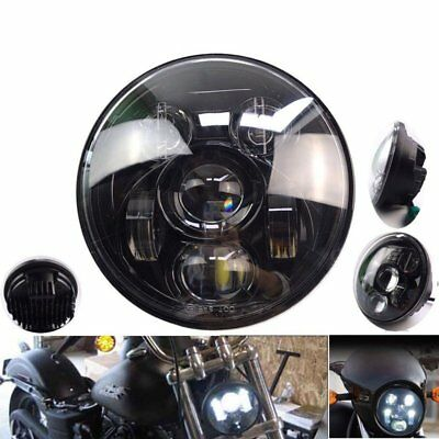 "Universal 7"" LED Motorcycle Halogen Headlight Turn Signals Angel Eye For Harley"
