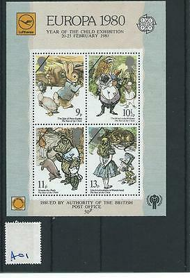 Gb Miniature Sheet - A01 -  Europa 1980 - Authorised Private Ms - Unmounted Mint