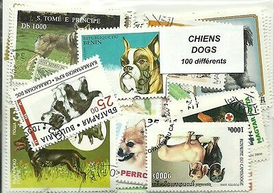 """Lot timbres thematique """"Chiens"""""""