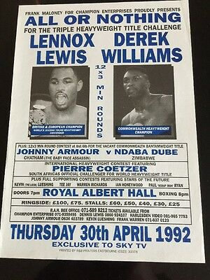 SALE - Lennox Lewis A4 Boxing Flyer / Poster