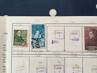 approval club booklet with good mint and used stamps of Spain & Belgium