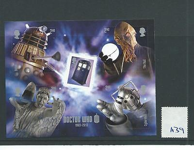 wbc. - GB MINIATURE SHEET - A39- 2013 - DOCTOR WHO - UNM MINT
