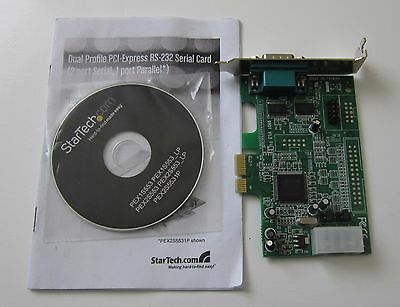 StarTech PEX2S553LP Low Profile Native RS232 PCI Express Serial Card