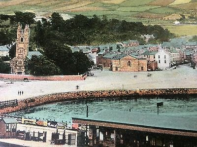 Antique Pc View Of Bantry Bay Church,town And Railway Station W.vickery Ireland