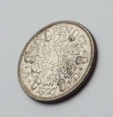 1927 - Silver - 6d / Sixpence - Great Britain King George V - English Coin Rare