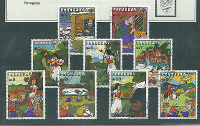 Disney Snow White Paraguay Set Fine Used