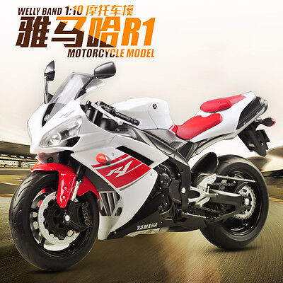 New Welly YAMAHA YZF-R1 Motorcycle 1:10 Model Gift Ornament Collection
