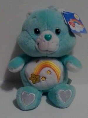 "2002 8"" WISH CARE BEAR CARLTON PLAY ALONG 20th ANNIVERSARY NWT MINT EASTER GIFT"
