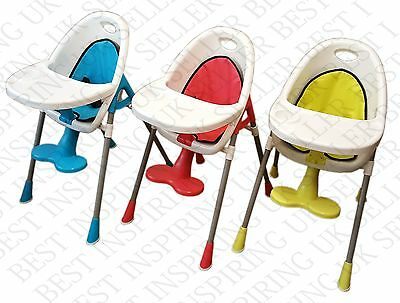 Kids Baby Safety High Chair Feeding Tray Cup Holder Plate Foot Rest Boys Girls