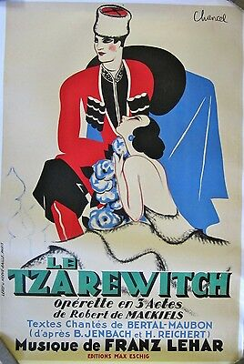 Vintage French Russian Opera Poster Mounted on Linen