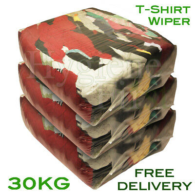 30Kg Bag of Rags T-Shirt t shirt Tshirt Material - Excellent value for money