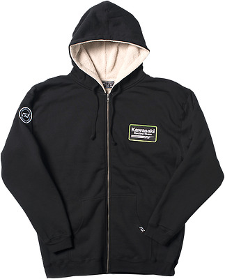 FACTORY EFFEX-APPAREL Mens Adult Kawasaki Sherpa Hoodie XL